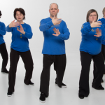 Group of students performing the Yang Tai Chi  form