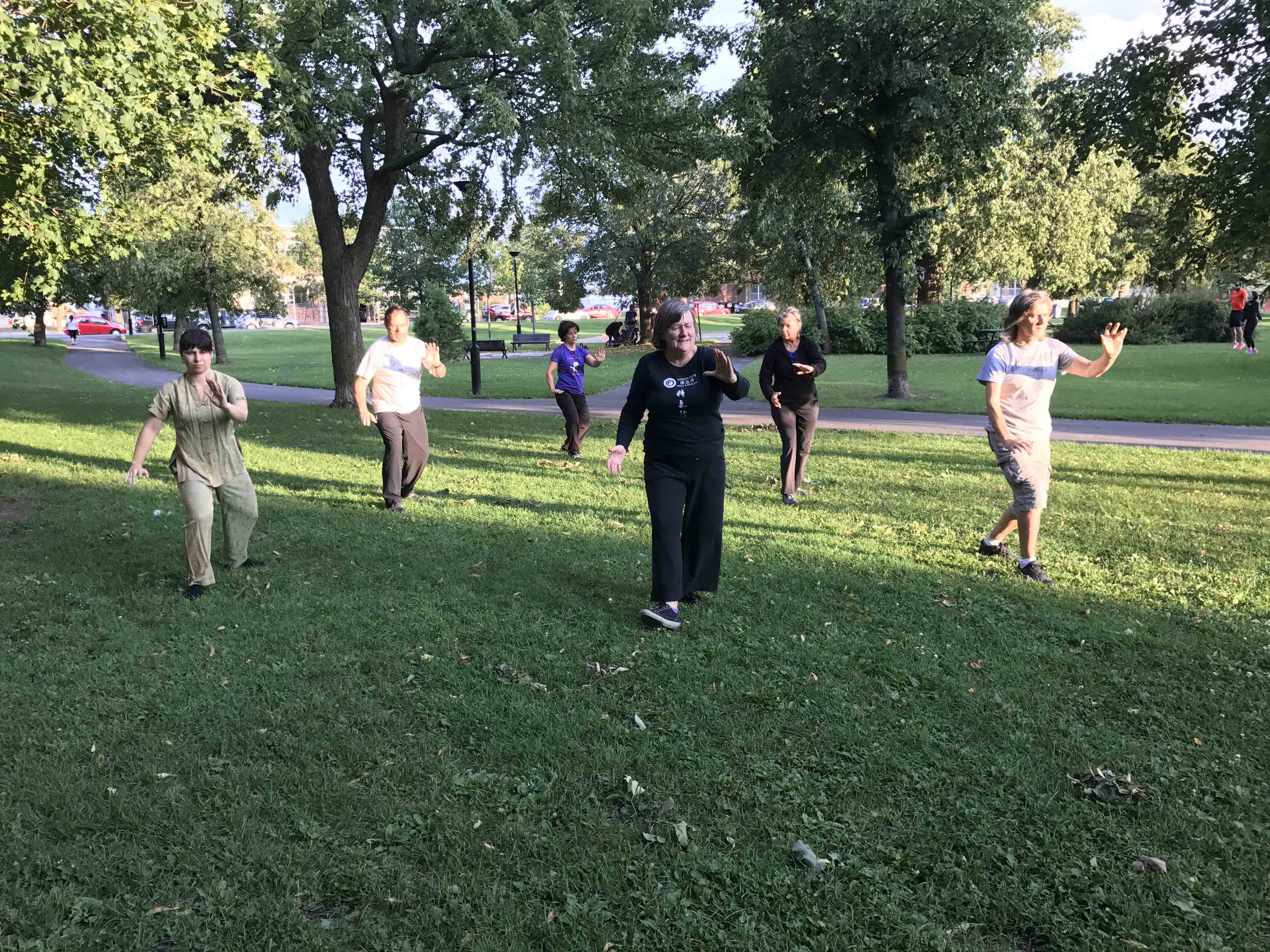 Summer 2019  :  Rosemont  :  Tai chi Free practice at Parc Père